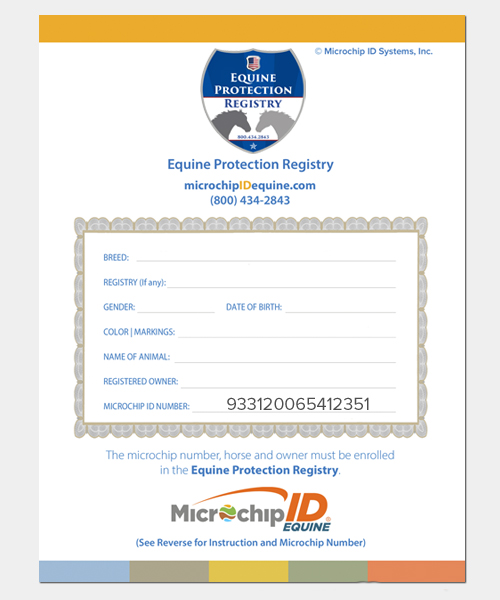 Product Guide • Microchip ID Systems | Equine Division